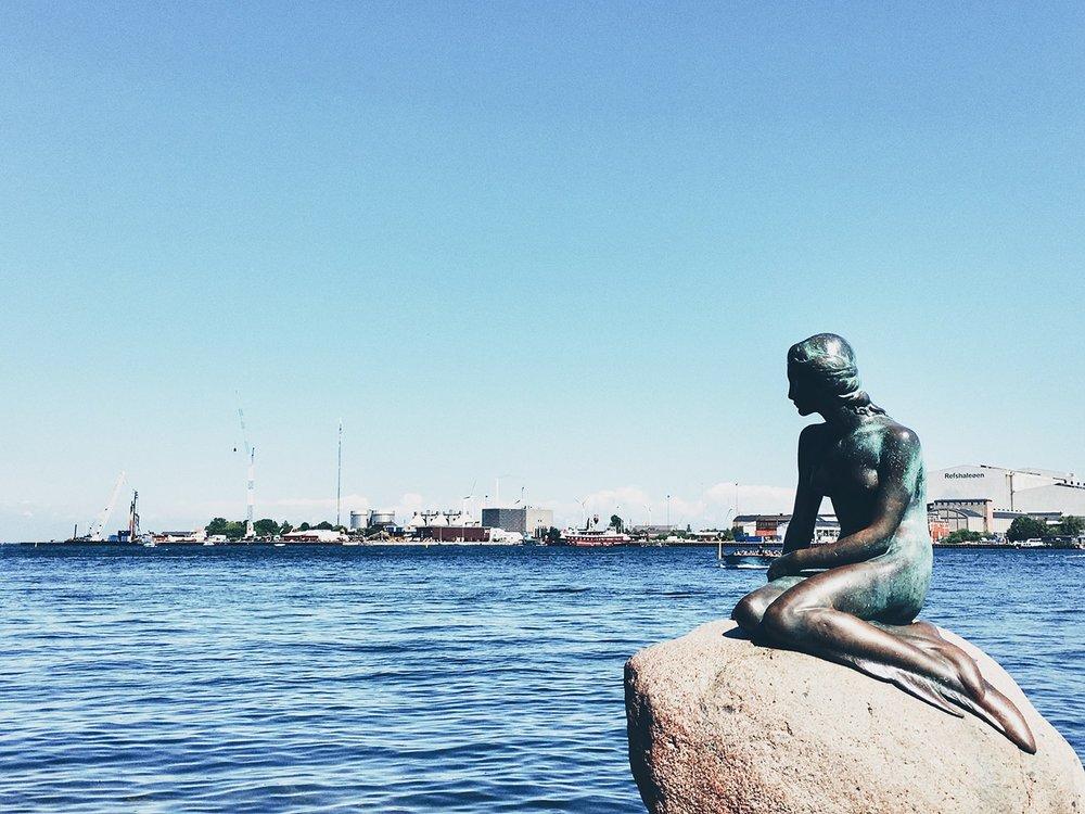 The Little Mermaid by Edvard Eriksen at Langelinje Pier (Copenhagen, Denmark)