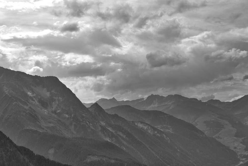 The zillertal towards Tux from the Ahorm