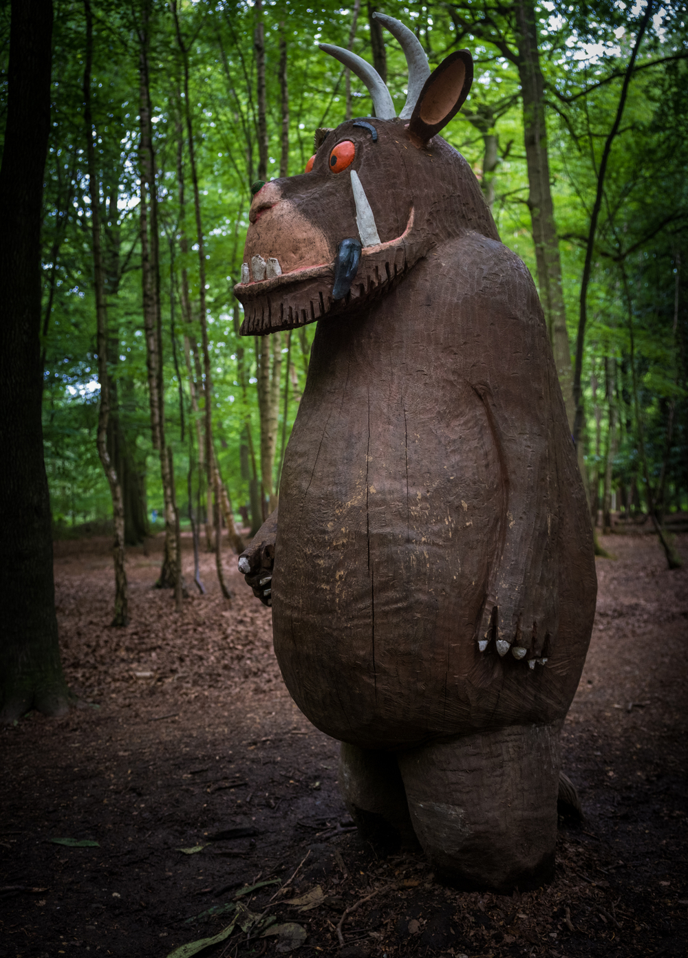 A Gruffalo, down in the deep dark woods (in Essex)