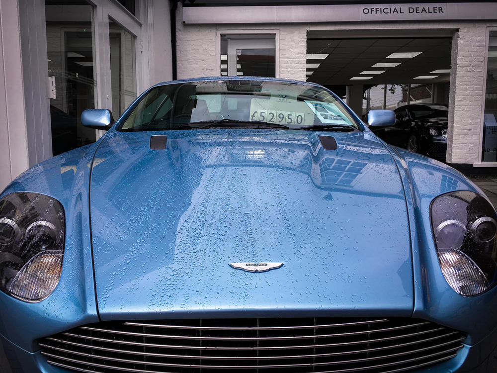 Aston Martin just sitting, waiting to be driven!