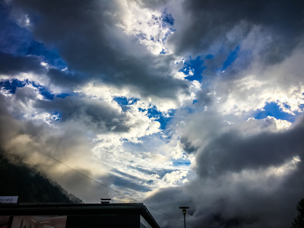 the sky the other morning from the carpark