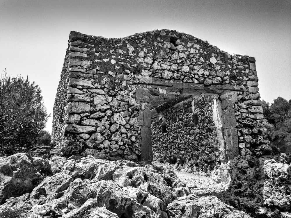 abandoned building in mallorca