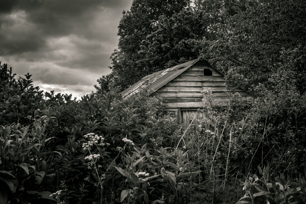 An abandoned hut in the Cotswolds shot with Fujifilm X-E1 with Olympus 50mm f/1.8 at 1/250 sec f/4.0 ISO 200 with post in Lightroom CC 2015 and  Macphun Tonality Pro