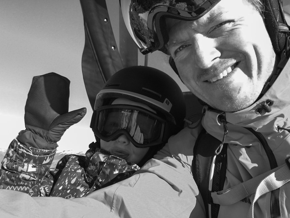 Me and the boy (well the bigger one!) out for a bit of a ski last spring. I have a love-hate relationship with the selfie! Shot on the iPhone 6s with post in Lightroom mobile.