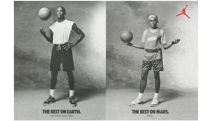 '89 Spike Lee as Mars Blackman with Michael Jordan Nike Ad