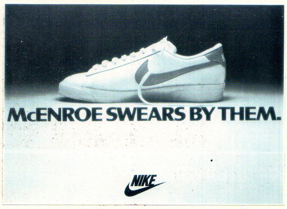 McEnroe Swears By Them Nike Ad