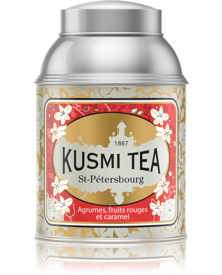 Created for the 300-year celebration of the city of St Petersburg, where Kusmi Tea's history began in 1867, St Petersburg is a delicious mixture of Earl Grey, caramel, and red fruits with a hint of vanilla.