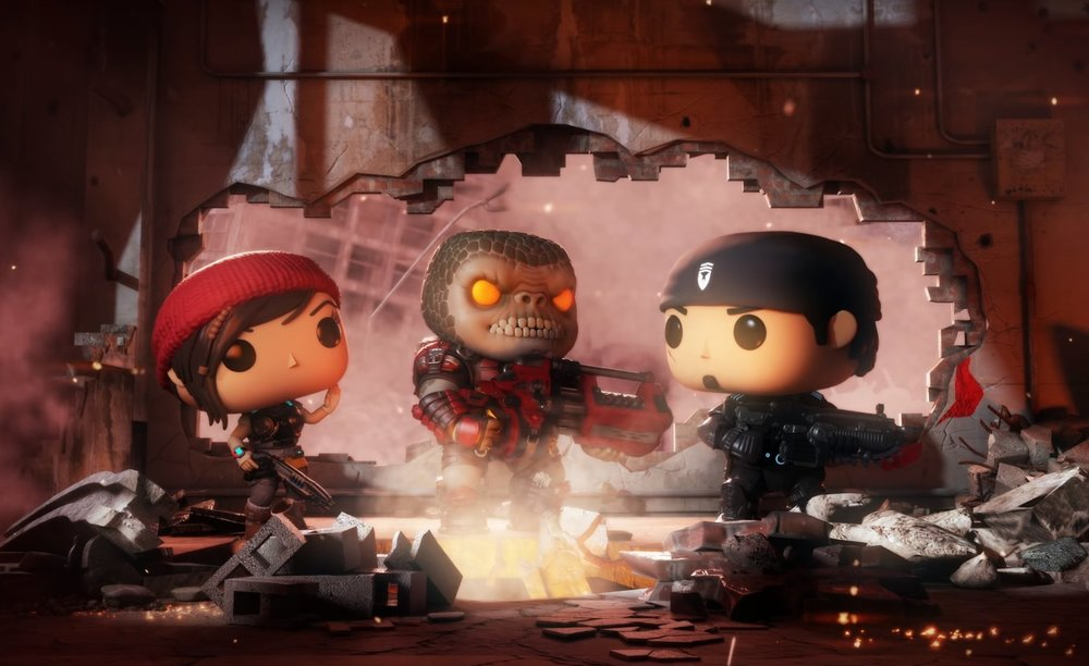 Gears Pop!  Upcoming mobile title for 2019 with a fun collaboration between Gears of War and Funko Pop.   For now, I'll say no more. Watch the E3 trailer!   https://www.youtube.com/watch?v=3Pf4KxbknXA