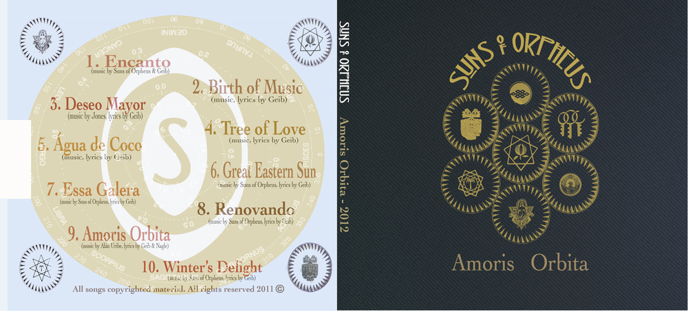 "Back and Front cover of the latest album, ""Amoris Orbita' with Suns of Orpheus (2012). Artwork and design by Frederico7."