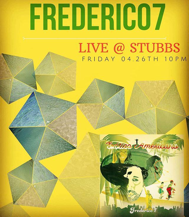 Big show coming up! Catch us at @stubbsaustin on Fri. 04.26th soonafter @iration  reggae fest. We go on around 10.30pm - free with iration wristbands. #soulrocker #exoticoamericano #american #musician #blackfret #austinmusic #latingrammy #worldmusic #borderless #noborders #sxsw #latinx #funk #soul #reggae #brasileiro #brasileirospelomundo #tantra #yoga #love #atxmusic #austinmusic