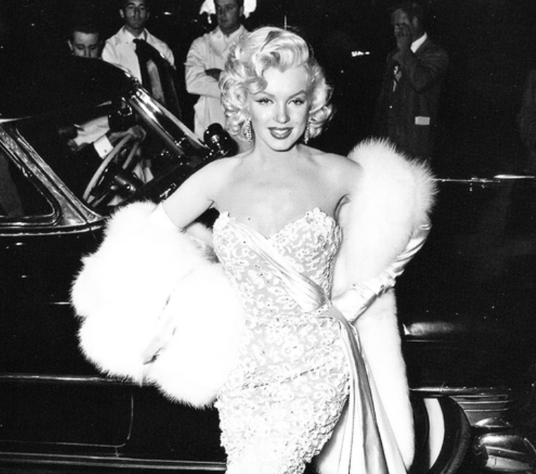 Marilyn Monroe at the premiere of How to Marry a Millionaire.