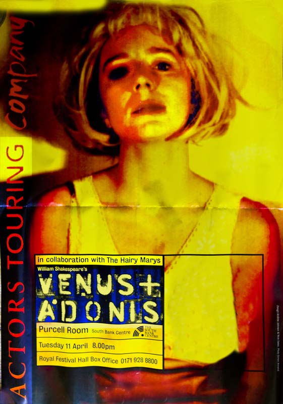 Venus + Adonis, Actors Touring Company, 1995