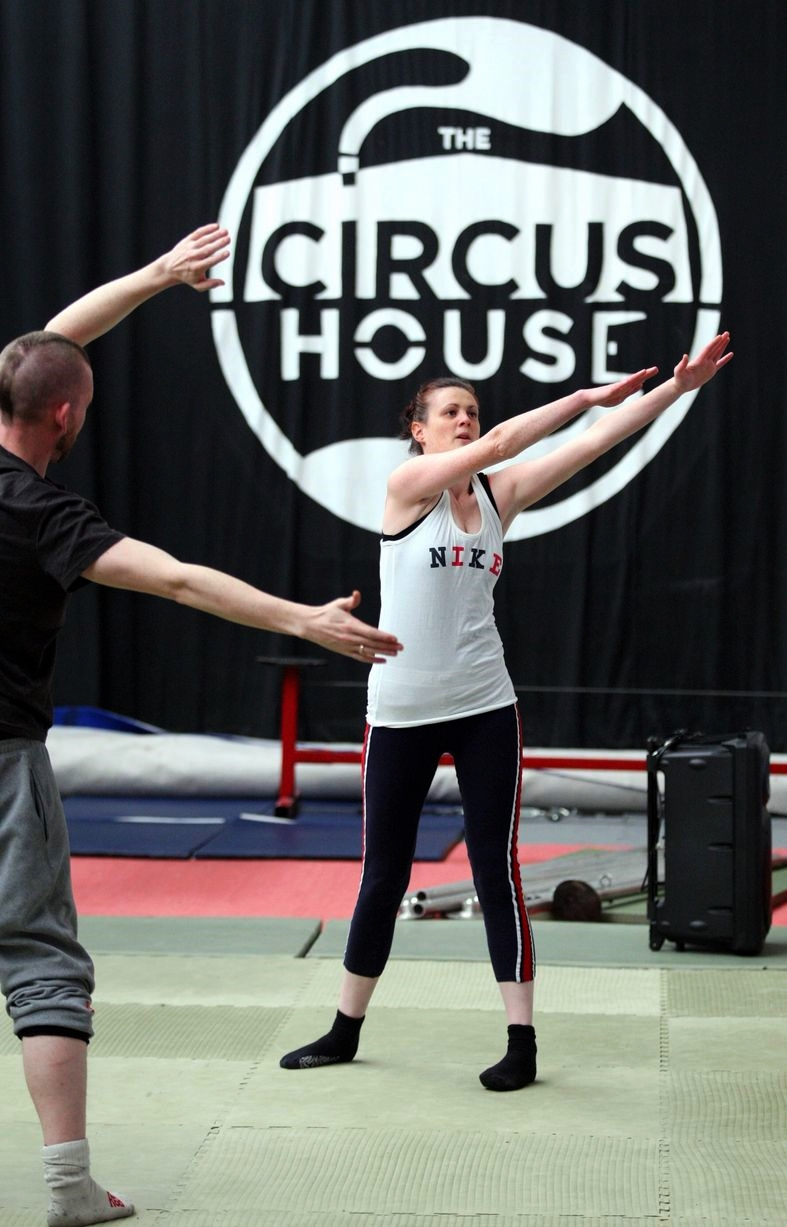 Warmup Exercise with MEN Reporter at The Circus House Training Space