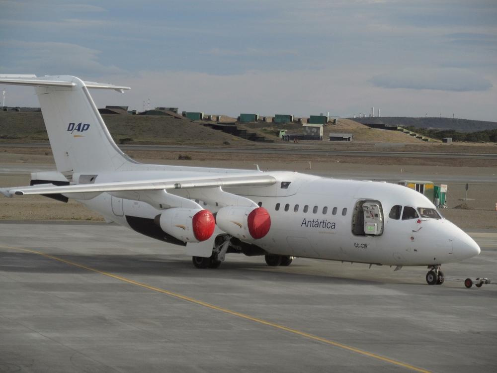 Antarctica Airways BAe-146 Aircraft at Punta Arenas Airport