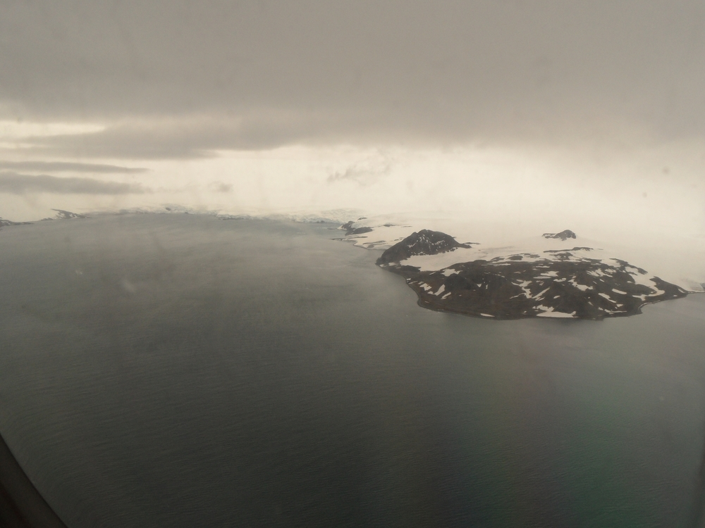Landing at Frei Station Airport in Antarctica