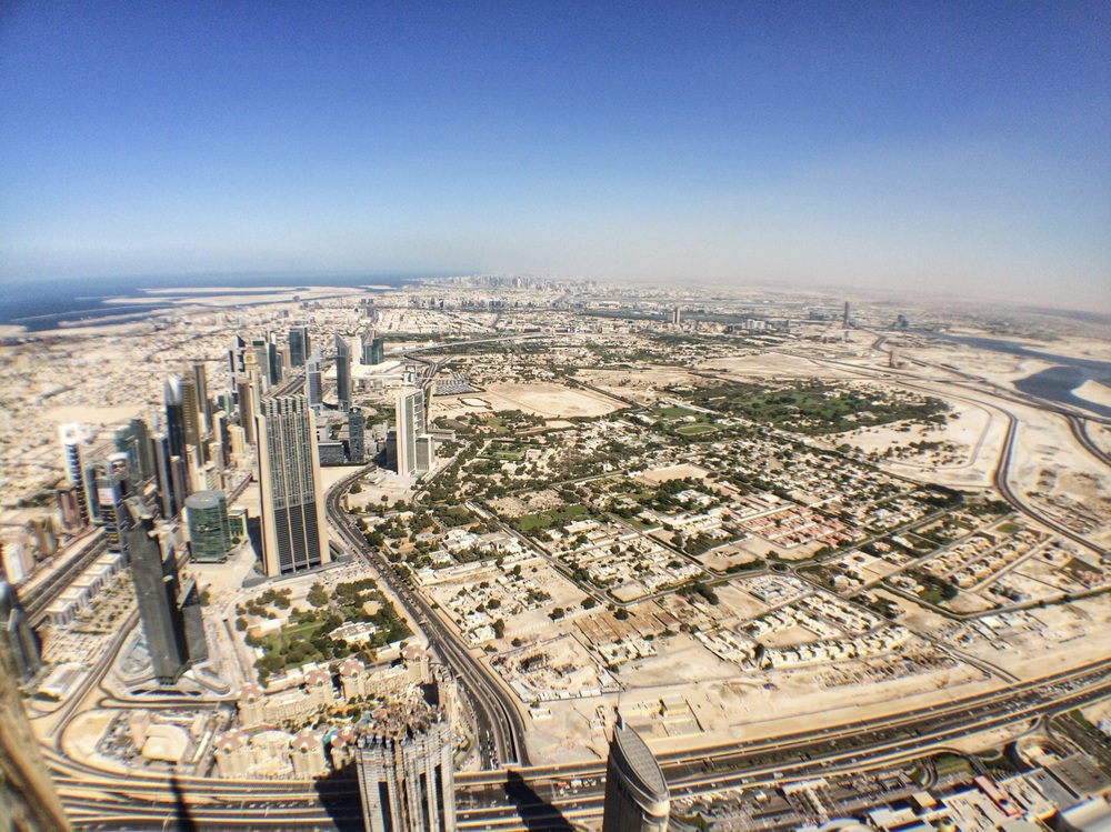 View of Dubai to the North from Burj Khalifa