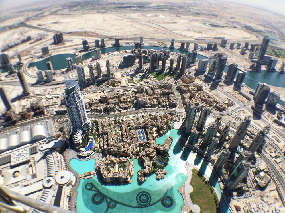 View of Dubai to the East from Burj Khalifa