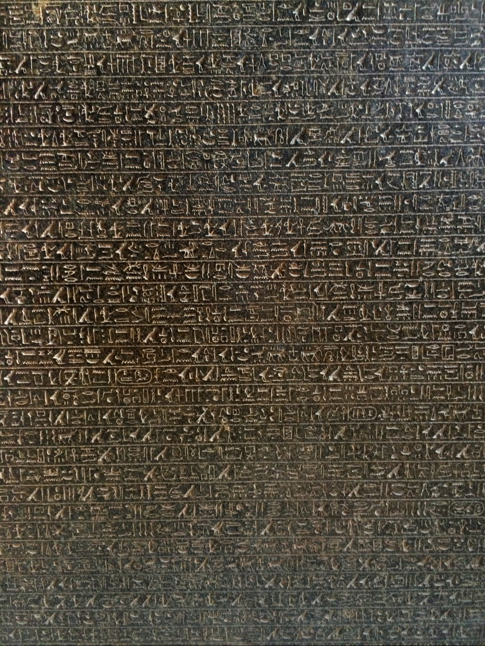 Ancient hieroglyph tablet at the National Museum in Cairo