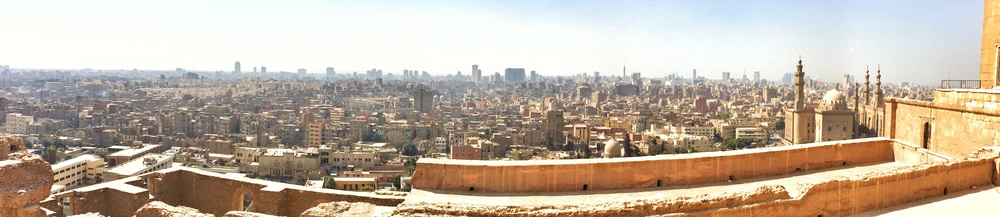 Panoramic view of Cairo from the Al Khalifa Mosque grounds