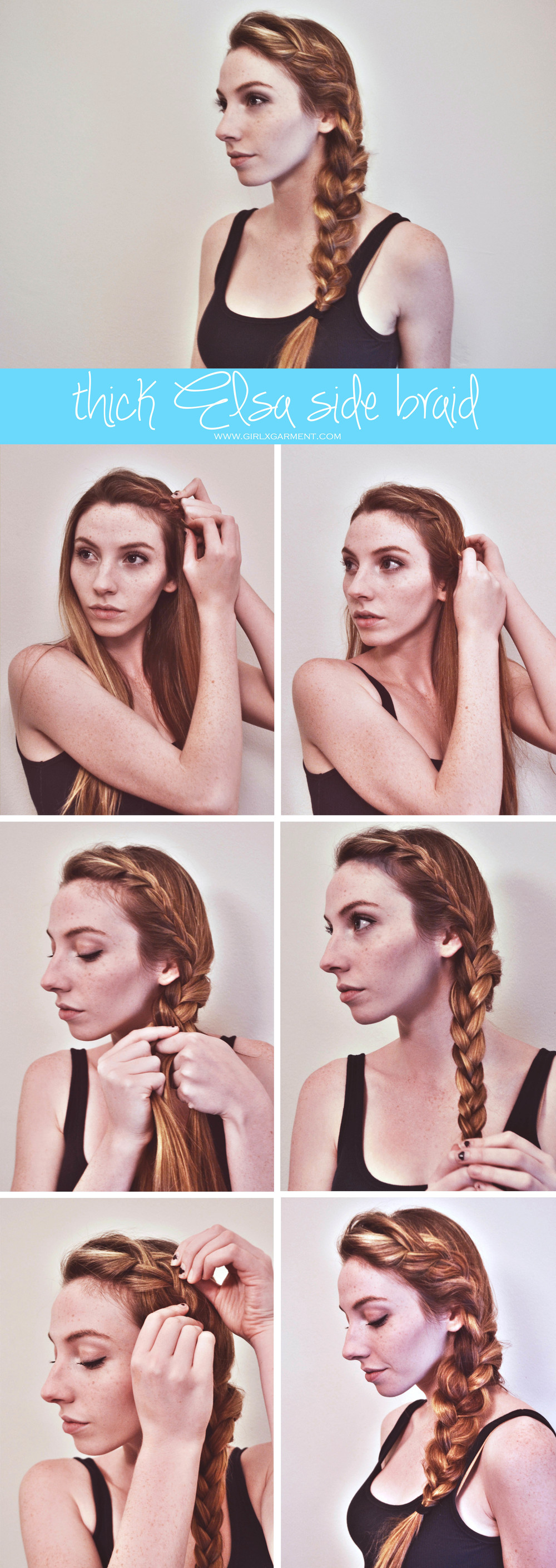 Thick Elsa Side Braid | Girl x Garment hair