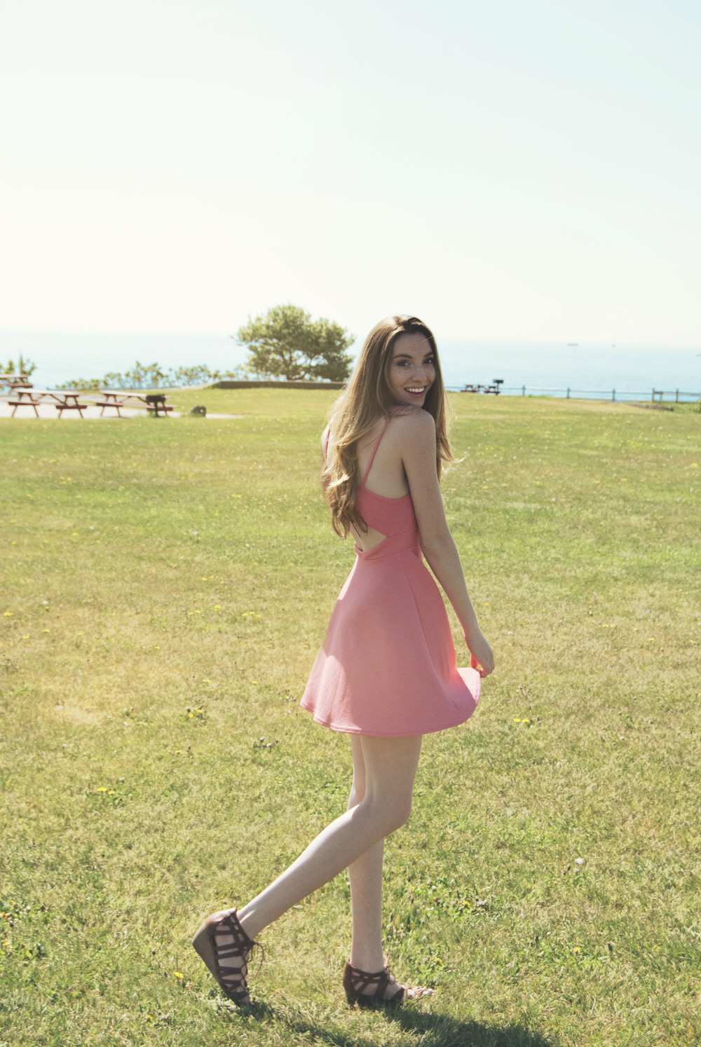 Pink Triangle Cutout Dress | Girl x Garment