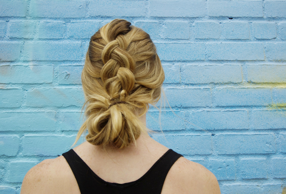 Dutch Braid Bun (via Girl x Garment)