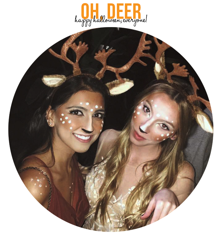 Halloween Deer Costume & Makeup (via Girl x Garment)