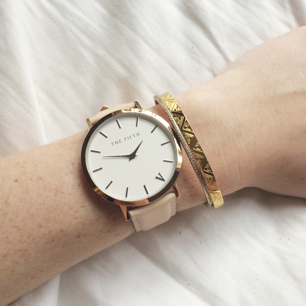 Rose Gold Fifth Watch (via Girl x Garment)