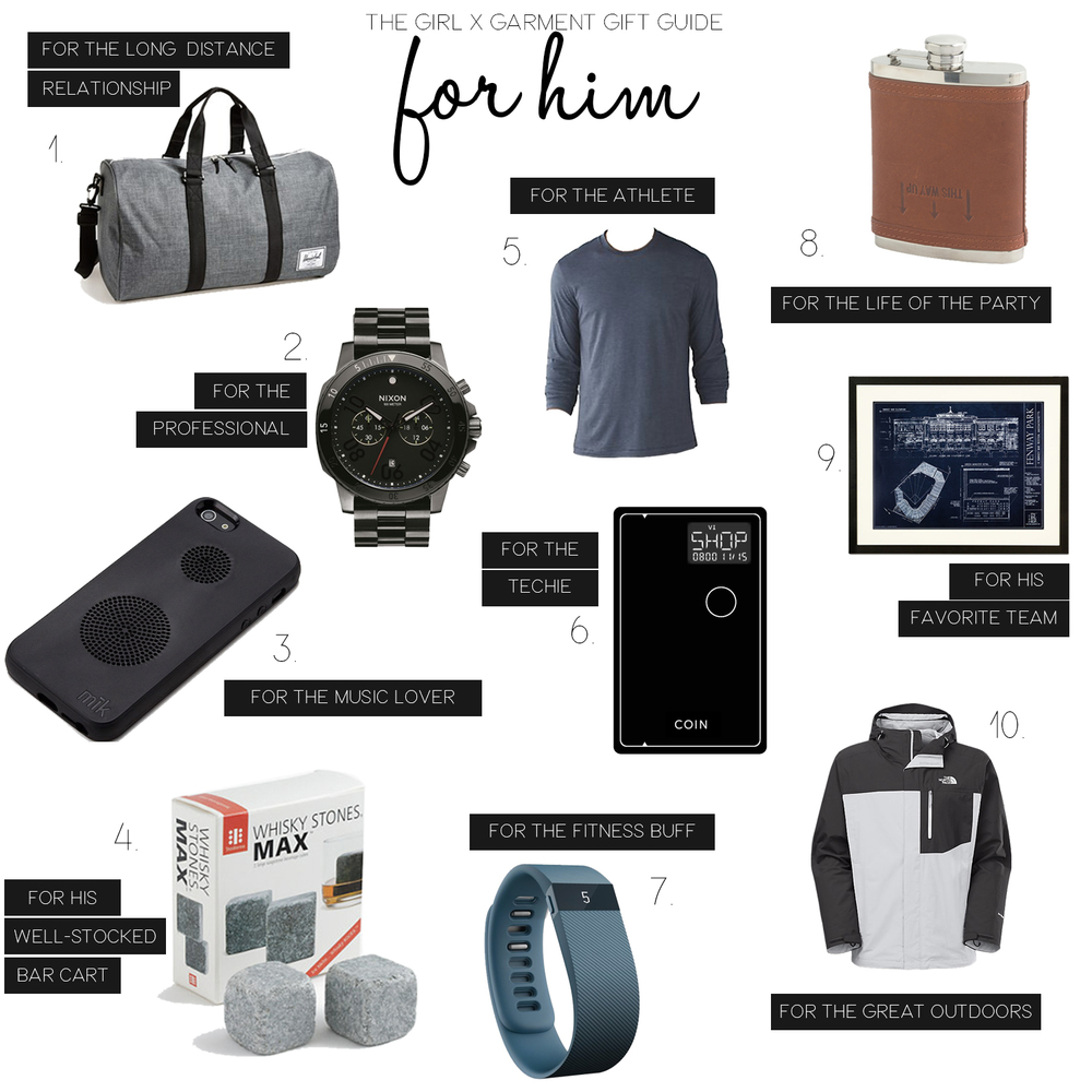 Holiday Gift Guide for Guys (via Girl x Garment)
