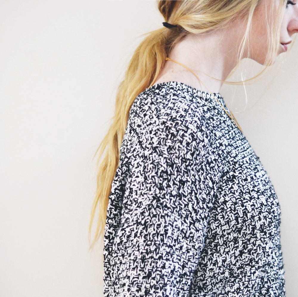 Low Pony & Marled Knits (via Girl x Garment)