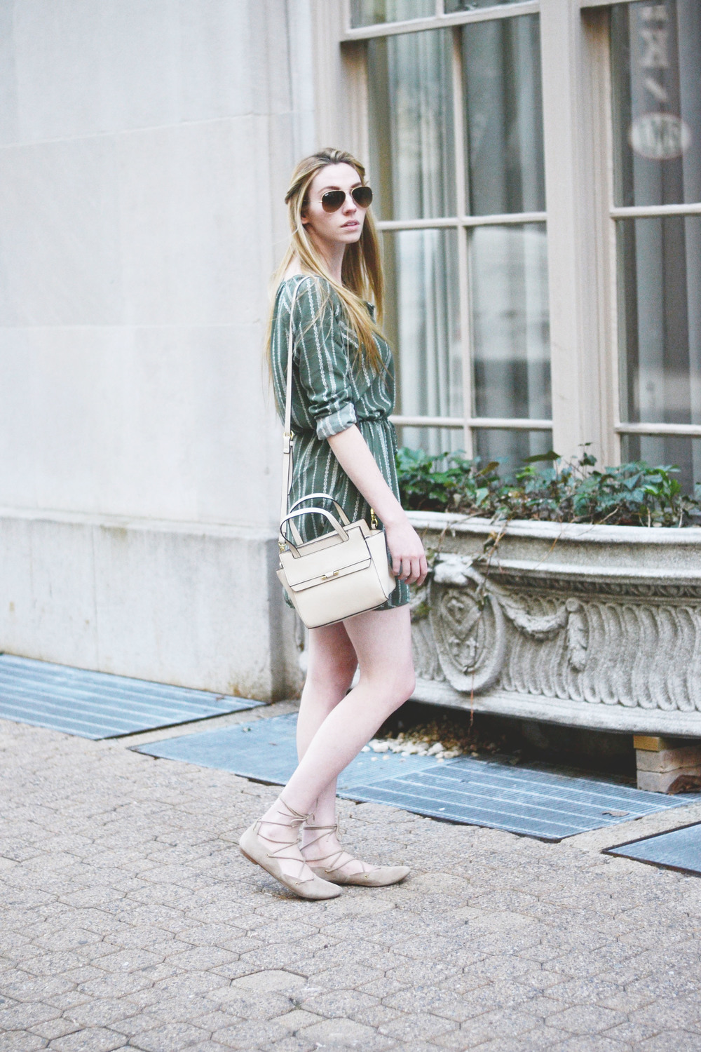 Palm Green Shirtdress (via Chic Now)