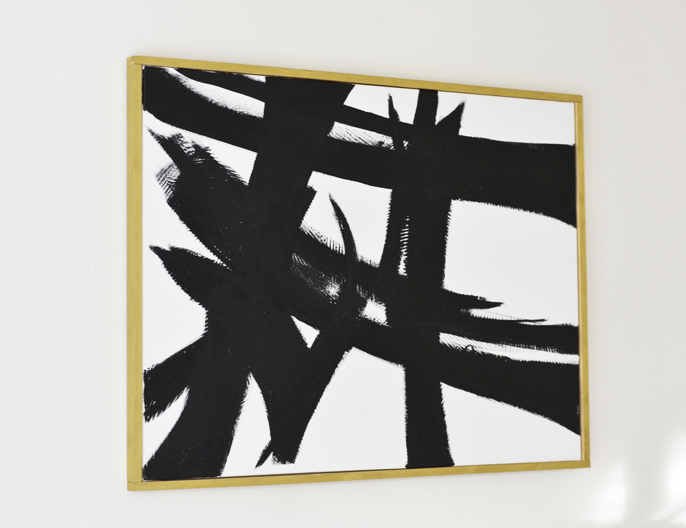 DIY Abstract Art & Canvas Frame (via Chic Now)