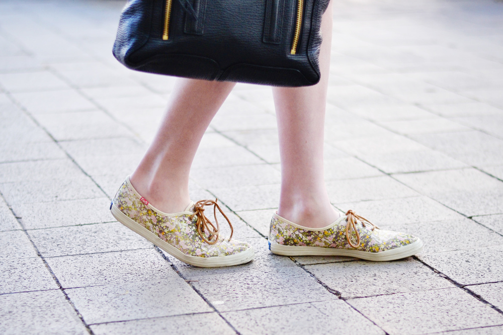 Floral Print Madewell Keds (via Chic Now)