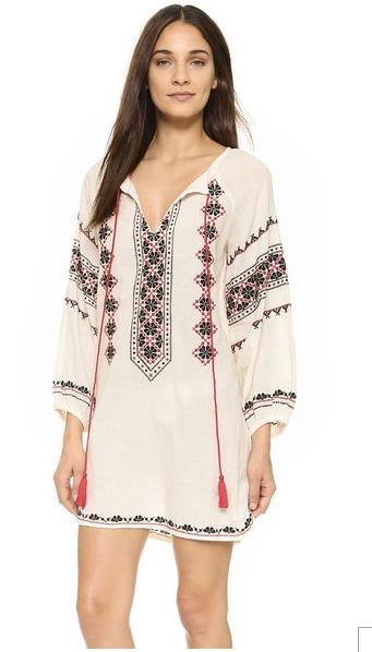 Star Mela Mayra Embroidered Tunic Dress