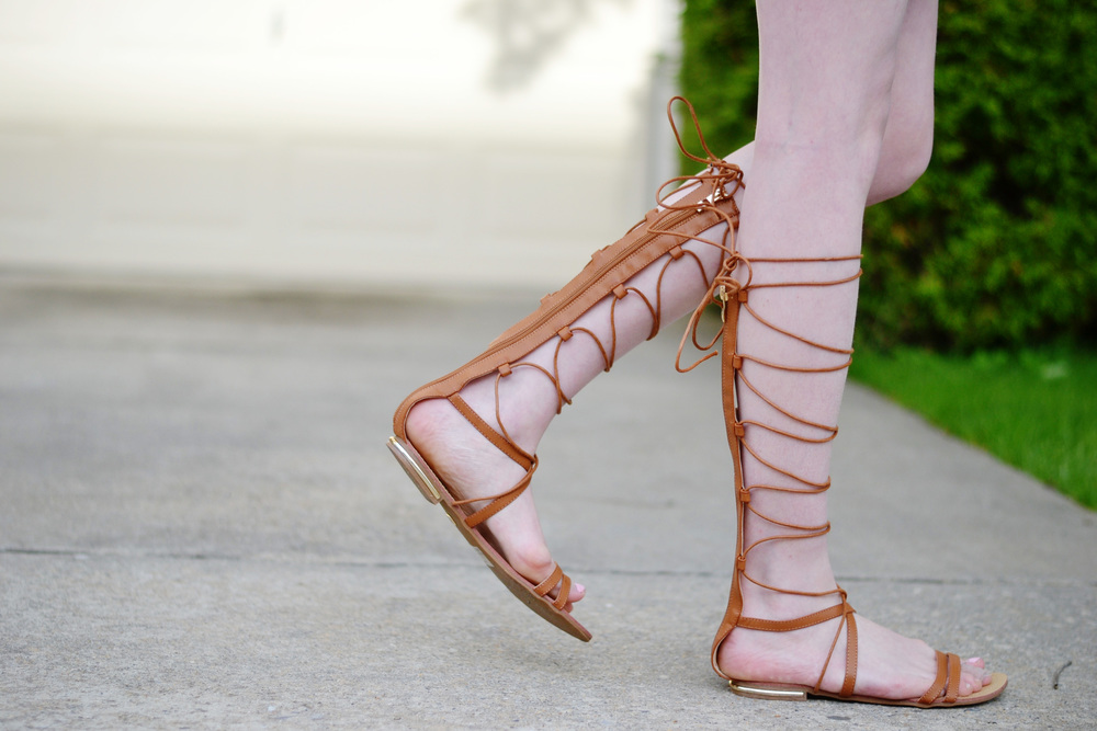 Lace-Up Tall Gladiator Sandals (via Chic Now)