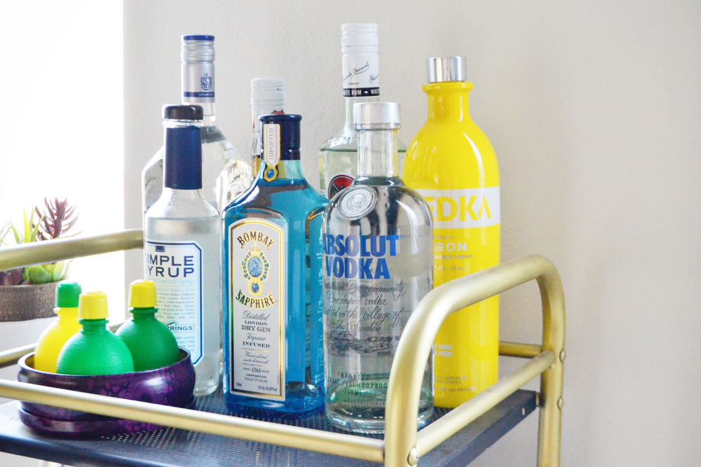 Bar Cart Essentials (via Chic Now)