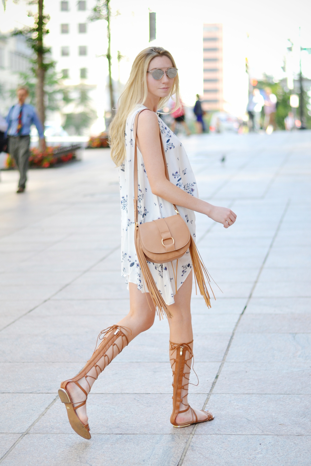 Blogger Flowy Top & Cutoffs (via Chic Now)