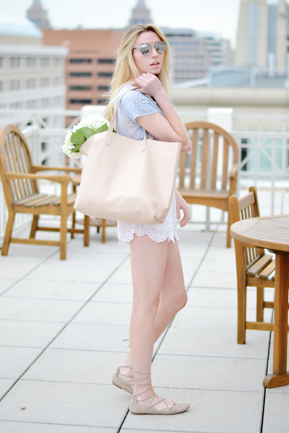 Blogger Cuyana Bag (via Chic Now)