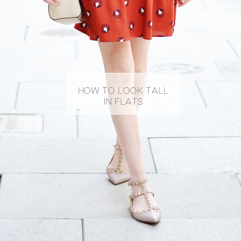 How To Look Taller In Flats (via Chic Now)
