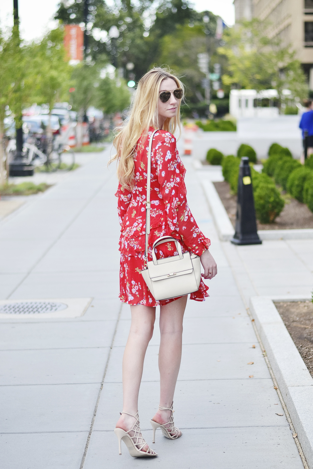 Blogger Red Dress Outfit (via Chic Now)