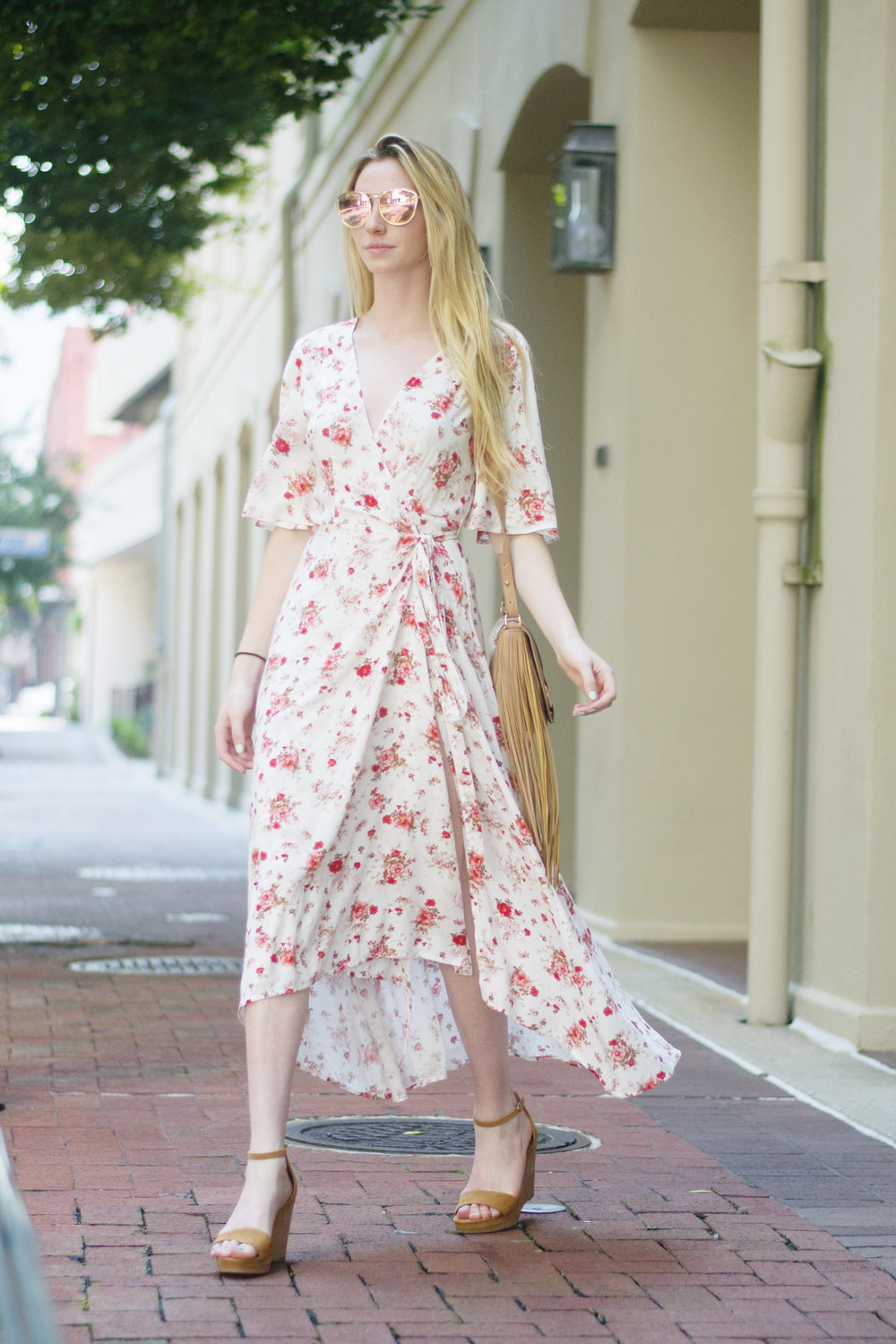 Floral Wrap Dress (via Chic Now)