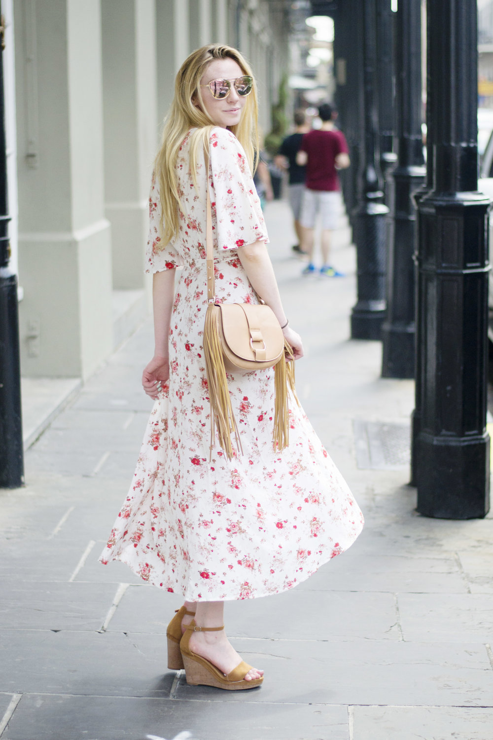 Blogger Floral Wrap Dress (via Chic Now)