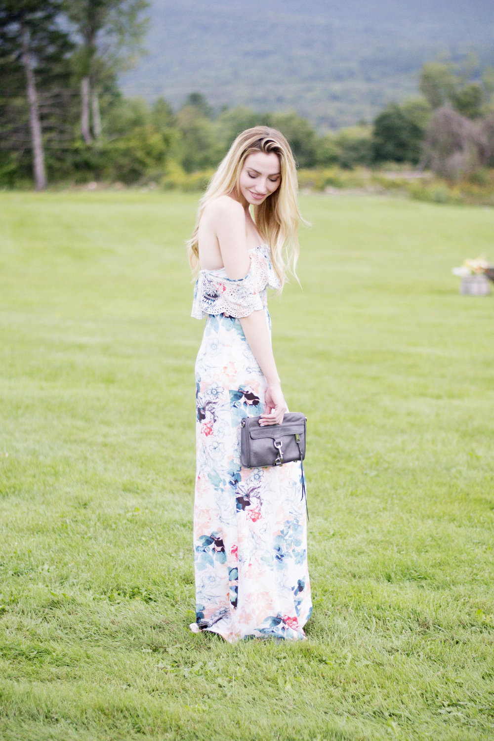 Floral Off Shoulder Maxi Dress (via Chic Now)