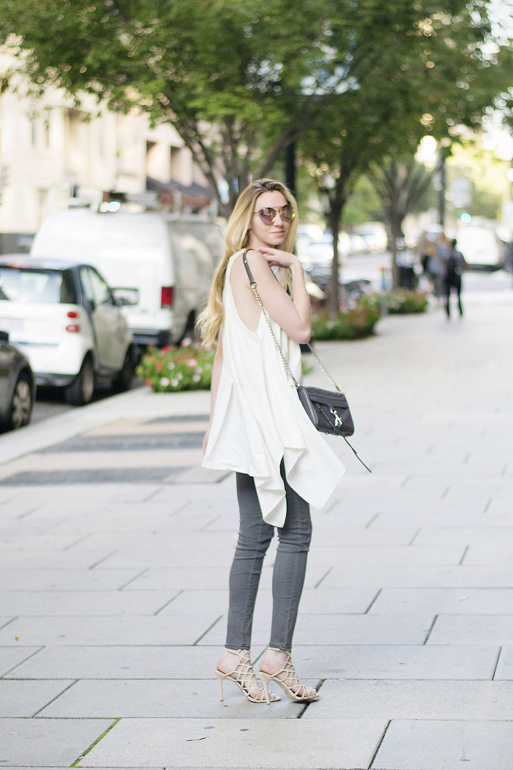 White Voluminous Ruffled Top (via Chic Now)