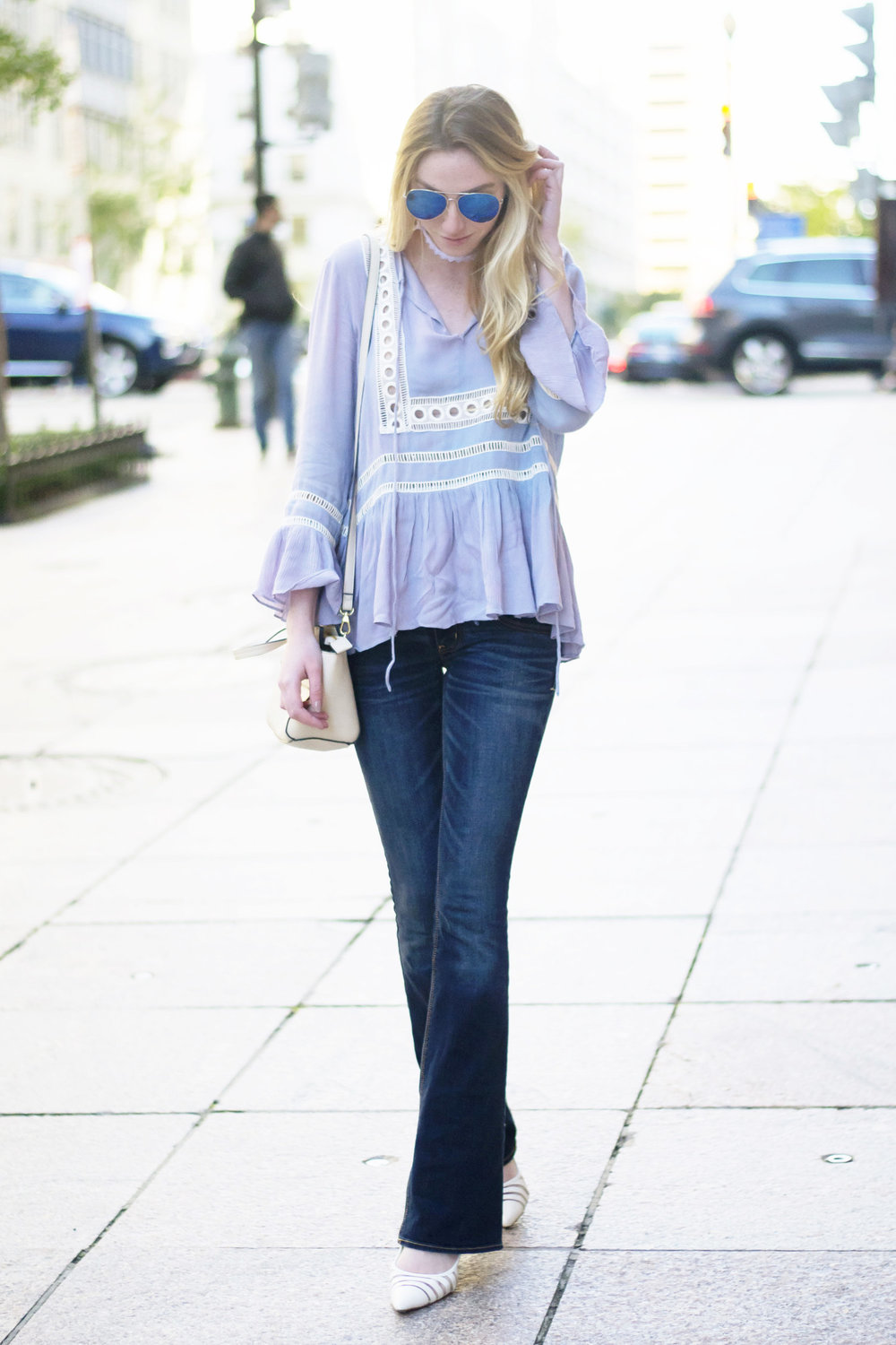 Blue White Boho Top (via Chic Now)