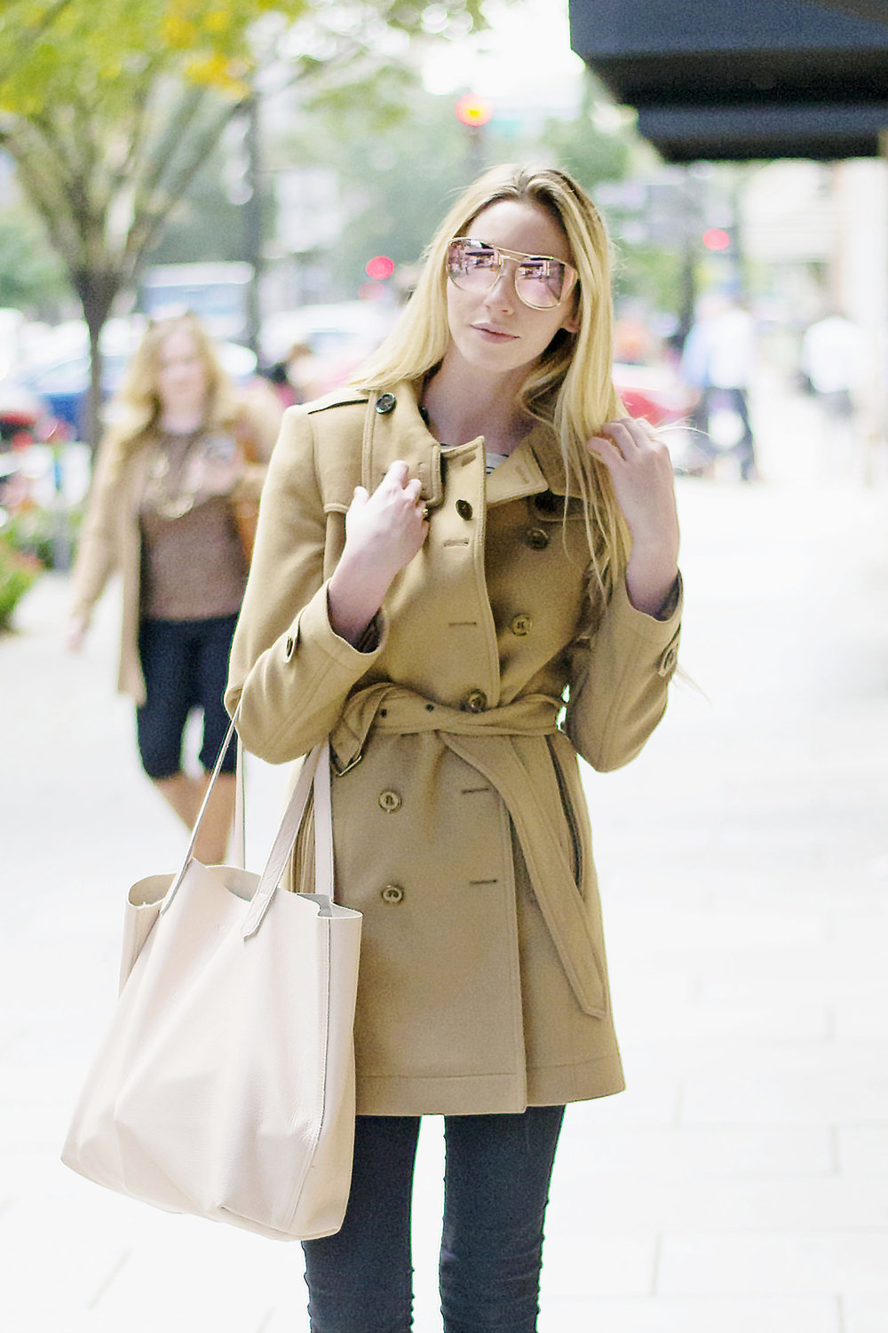 Blogger Burberry Coat (via Chic Now)