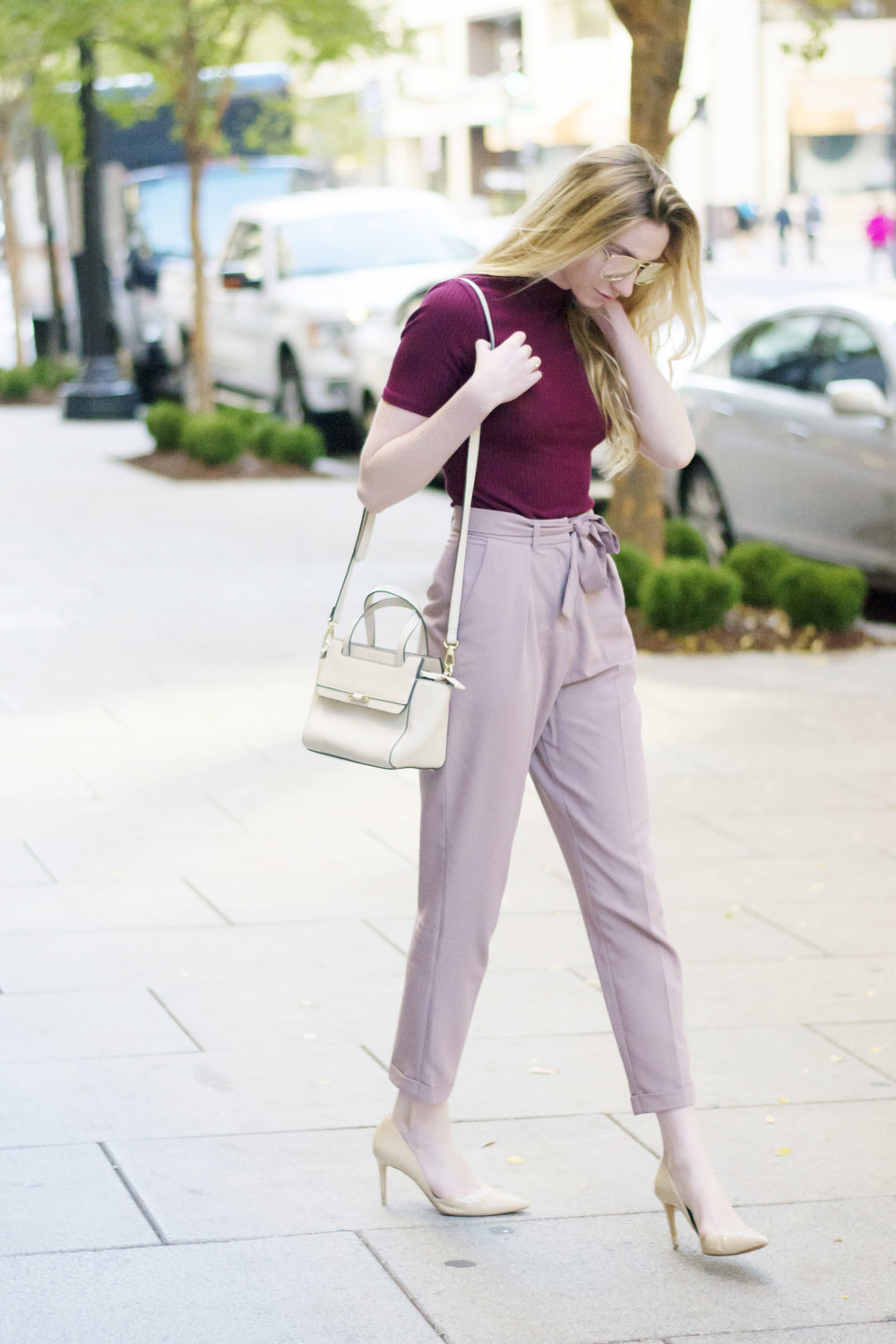 Maroon and Blush Fall Style (via Chic Now)