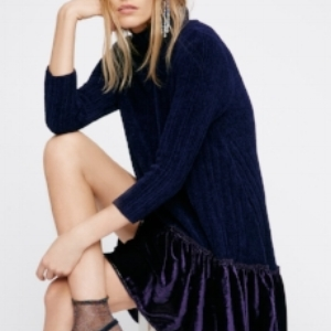 Blue Velvet Tunic (via Free People)