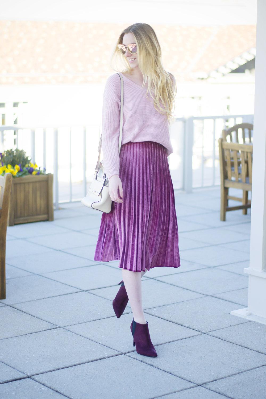 Blogger Velvet Winter Style