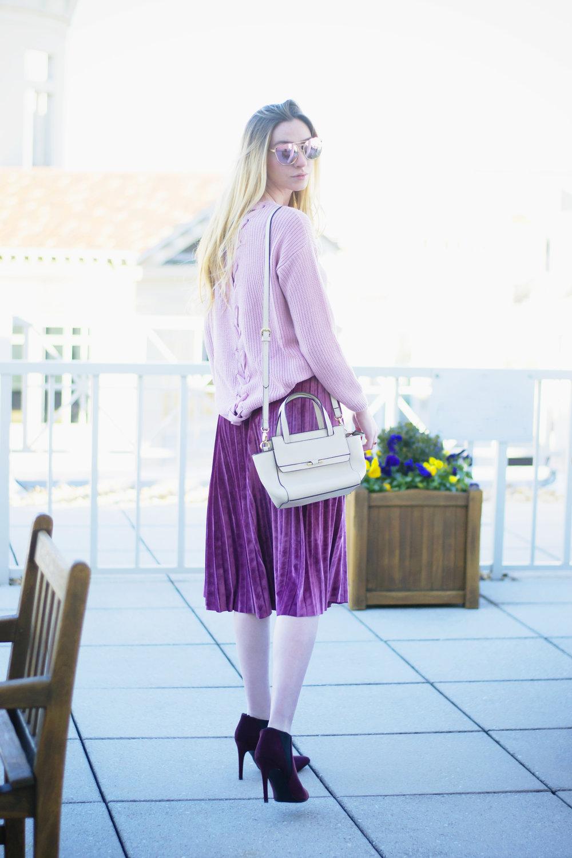 Velvet Skirt Style